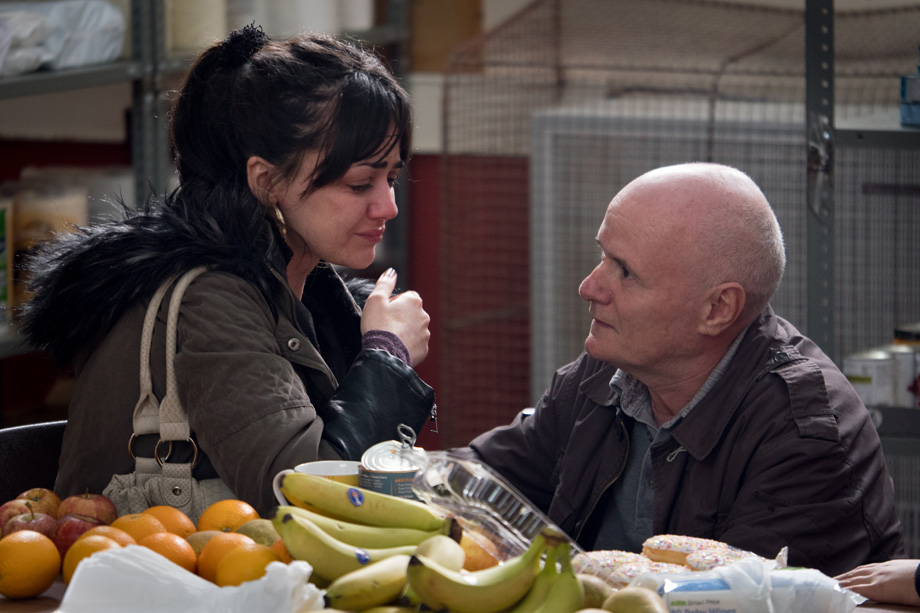 Dave Johns (Daniel) and Hayley Squires (Katie) in I, Daniel Blake