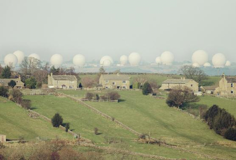 Menwith Hill, 13 March 2013. Photograph: Trevor Paglen